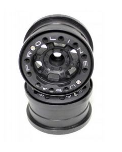 """Proline 2713-15 Titus 2.2"""" Black/Black Bead-Loc Front or Rear Wheels w/o weights (2) 1/10"""