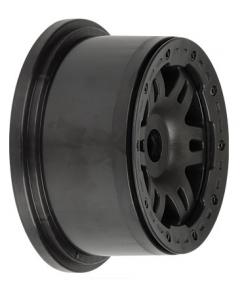 Proline 2719-03 Split Six Black/Black Bead-Loc Wheel (2pcs) 1/5