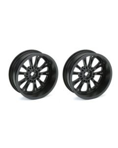 "Proline 2775-03 Pomona Drag Spec 2.2"" Black Front Wheels (2pcs)  1/10"