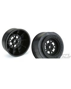 """Proline 2776-03 Pomona Drag Spec 2.2""""/3.0"""" Black Wheels  1/10"""