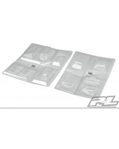 Proline 6368-00 No Prep Drag Racing Optional Hood Scoops & Blowers (Clear)
