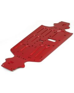 Robitronic 27051R Protos 70-75 Al Chassis CNC red anodized