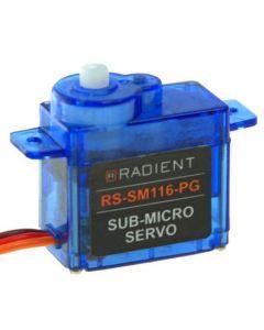 Radient RDNA0400 ECONOMY 1.2KG SUB MICRO SERVO (4.8 - 6.0V) (RS-SM116-PG)