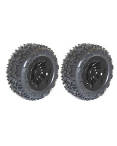 River Hobby 10138B Wheel & tyre pair MT Black (FTX-6310) 2pcs 1/10