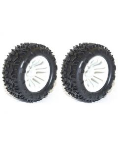 River Hobby 10138W Wheel & tyre pair MT White (FTX-6310W) 2pcs 1/10