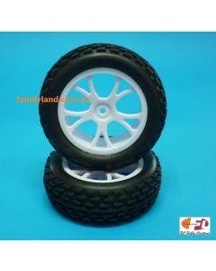 River Hobby 10302 Front Buggy Tyre Set Spirit (White) 2pcs 1/10