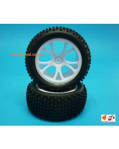 River Hobby 10303W Rear Buggy Tyre Set Spirit (White) 2pcs 1/10