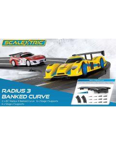 Scalextric C8297 Radius 3 10° Banked Curve 45° x 2