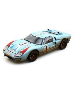 Shelby Collectibles SH405 #1 1966 GT40 MK11 Ken Miles Dirty Blue/ White/ Orange 1/18