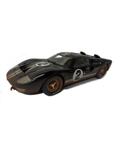 Shelby Collectibles SH431 Dirty 1966 GT40 MK11 Black/ Silver 1/18
