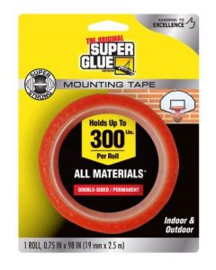 """Super Glue 11710506 Super Strong Mounting Tape 19mm x 2.5m (0.75"""" x 98"""")"""