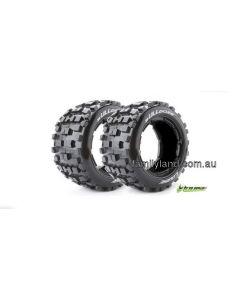 Louise LT3244I B-Ulldoze 1/5 Scale Rear Baja Tyre With Black Insert  2pcs