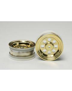 Tamiya 40133 1/16 GB-01 Fox Front Wheels - Gold Plated pair