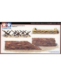 Tamiya 32508 Brick Wall/ Sand Bag/ Barricade Set 1/48