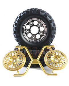 Tamiya 54484 Rock Block Tires - w/2-Piece Mesh Wheels (CC01) 1/10