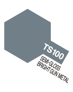 Tamiya 85100 TS-100 Semi-Gloss Bright Gunmetal  - 100ml Spray Can