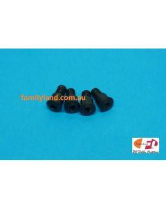 TEAM MAGIC 503214 E4 Caster block lower screw (KING PIN/ BLACK)