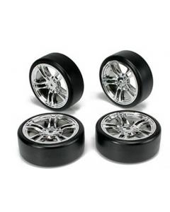 Team Magic 503302FS Drift Mounted 5-Spoke Silver Wheel(4pcs)1/10