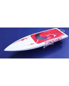 "TFL Rocket Electric Boat White Hull 25"" (650mm) w/ 2.4GHz Transmitter"