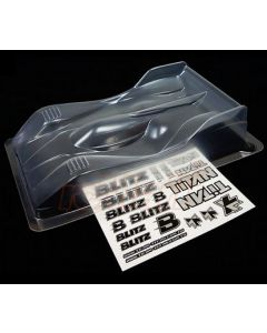 Titan 60908 Blitz T128 On-Road Clear Body (0.8mm) 1/12 Scale