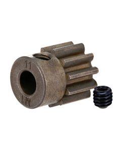 Traxxas 6484X Pinion gear 11T fits 5mm shaft, 1.0 metric pitch.