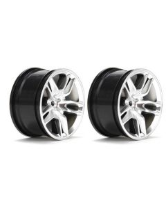 Vaterra VTR43034 Rear Wheel 2014 Corvette Z51 54x30mm Silver (2pcs) 1/10