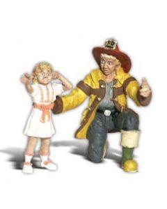 Woodland Scenics A2539 Fireman Bill & Betsy - G scale