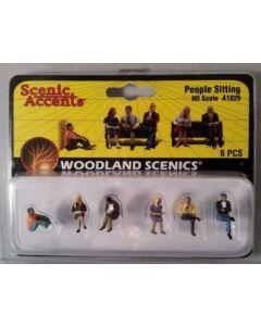Woodland Scenics  A1829 HO People Sitting 1/87