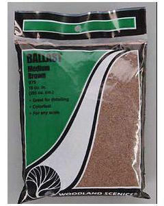 Woodland Scenics B79 Brown Medium Ballast Bag - 21.6 in³ (353 cm³)