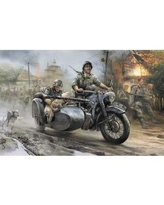 Zvezda 3607 R-12 German Motorcycle with Sidecar and Crew 1/35